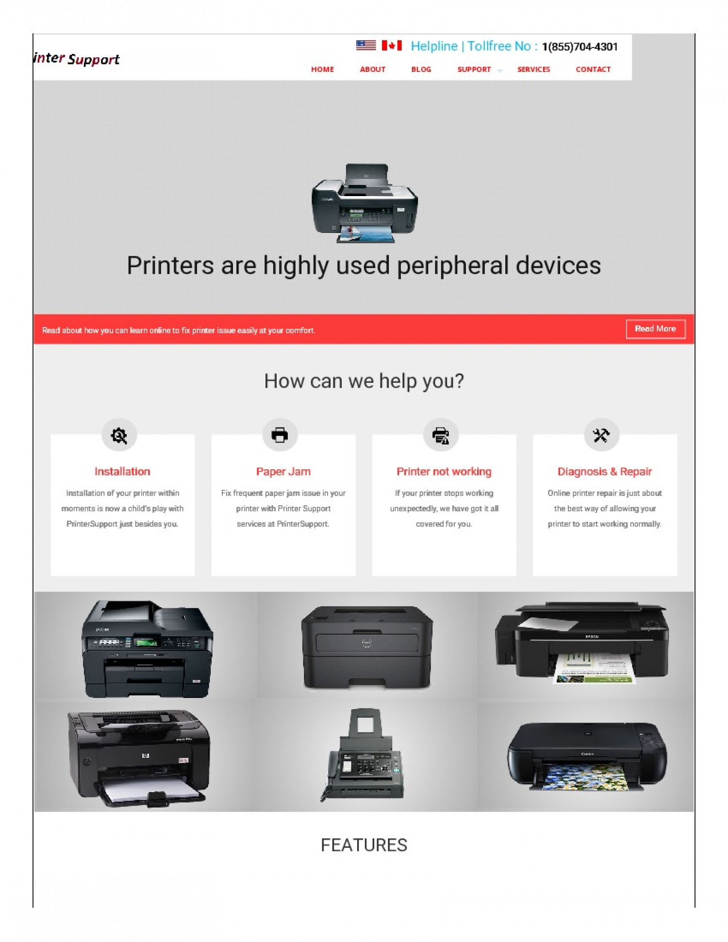 Printer support number+1(855)704-4301 Infographic