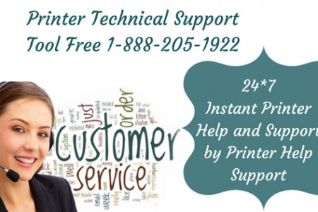 Printer Technical Support Number 1-888-205-1922 - Printer Help Support Infographic