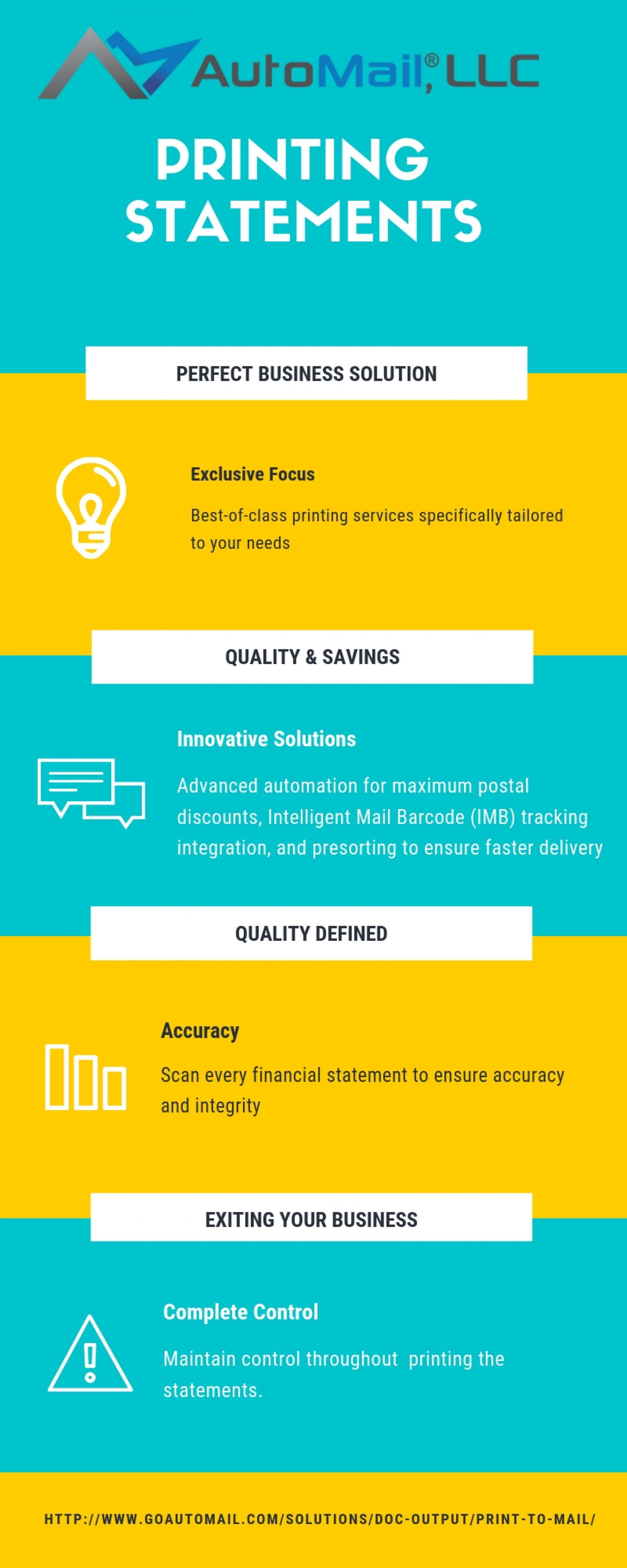 Printing Statements - Automail Infographic