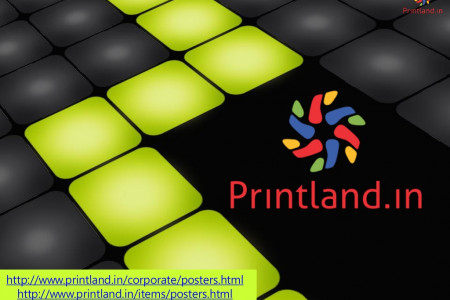 PrintLand.in - Buy Promotional or Corporate and Company Logo Printed Posters Online in India Infographic