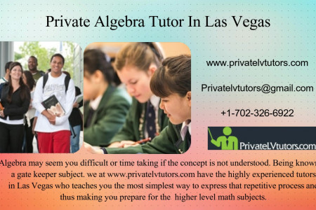 Private Algebra Tutor In Las Vegas Infographic