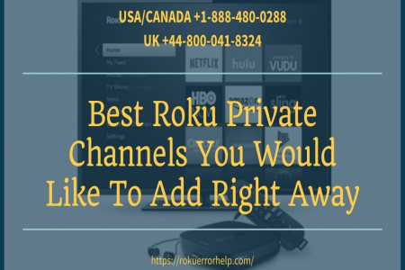 Private Channels on Roku – Call +1 888-480-0288 Infographic