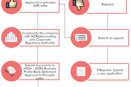 Procedure for entrepreneur pass application in Singapore Infographic