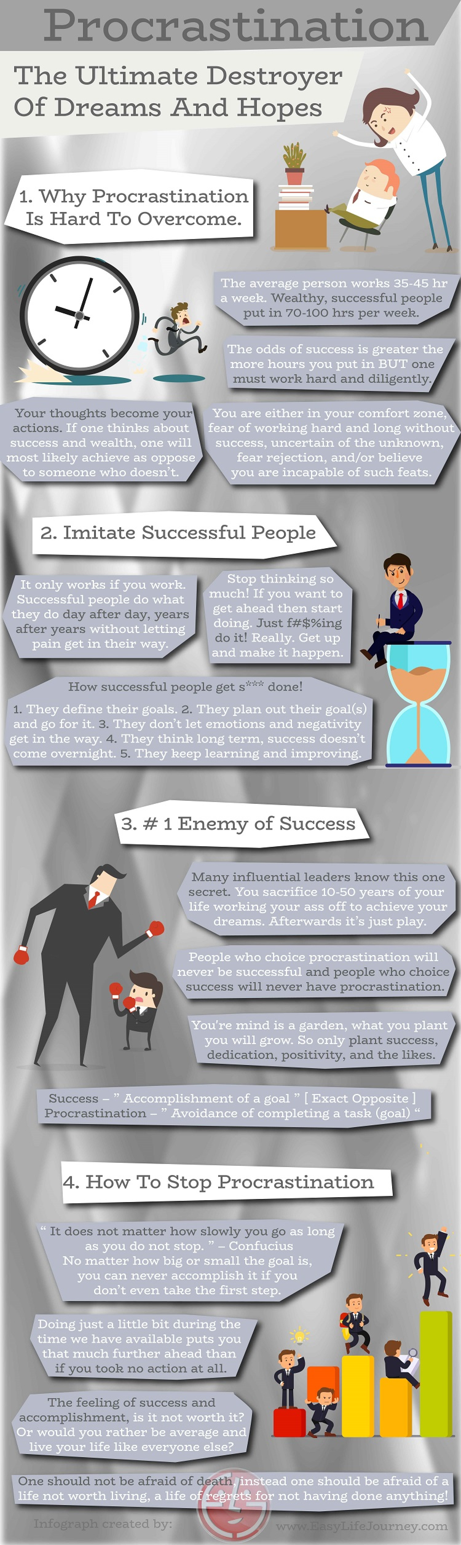 Procrastination The Ultimate Destroyer Of Dreams And Hopes Infographic