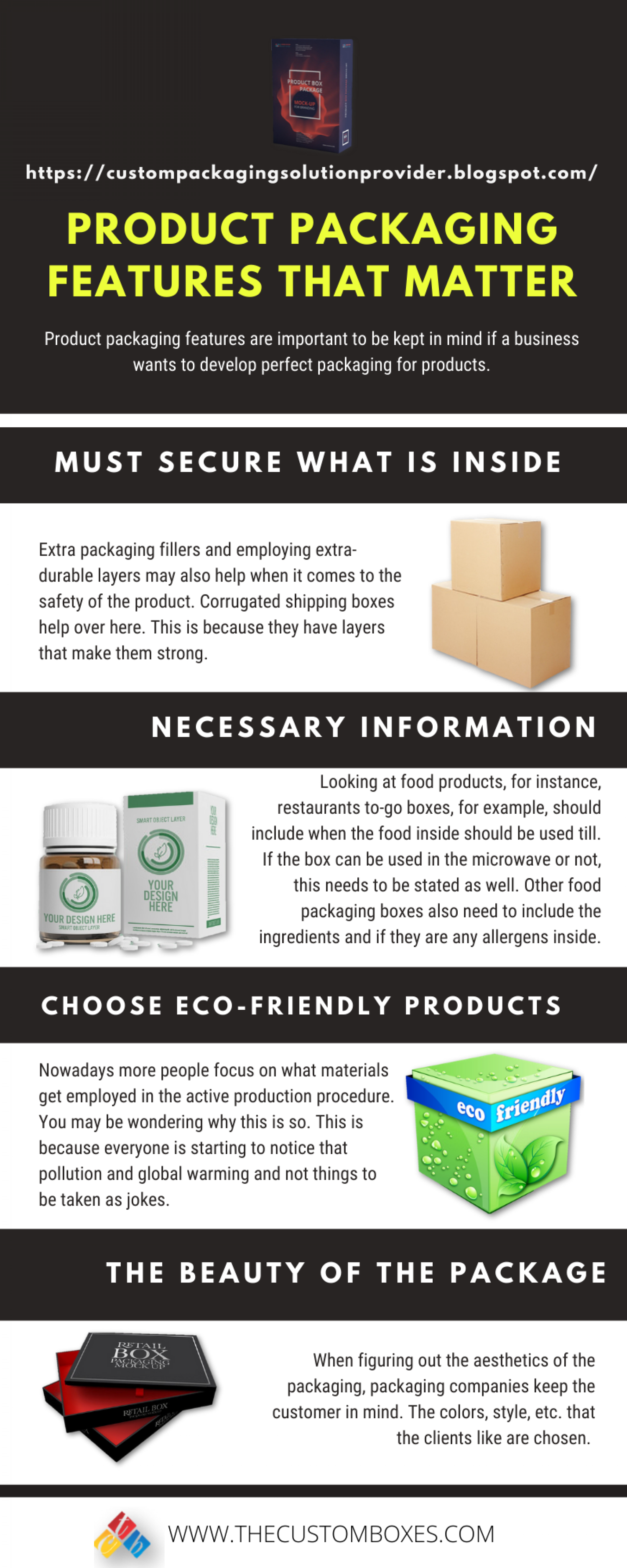 Product Packaging Features That Matter Infographic
