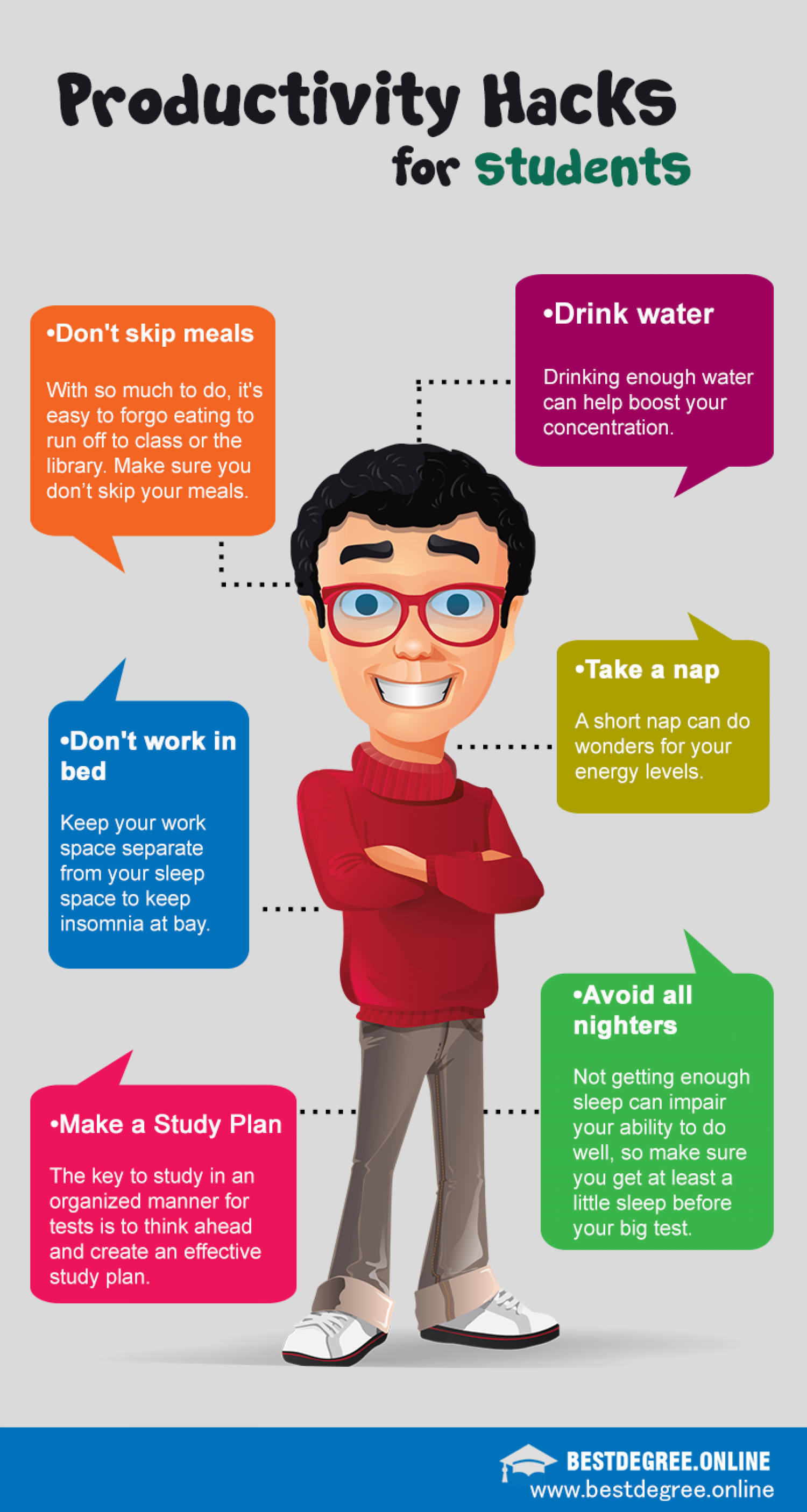 Productivity Hacks for Students Infographic