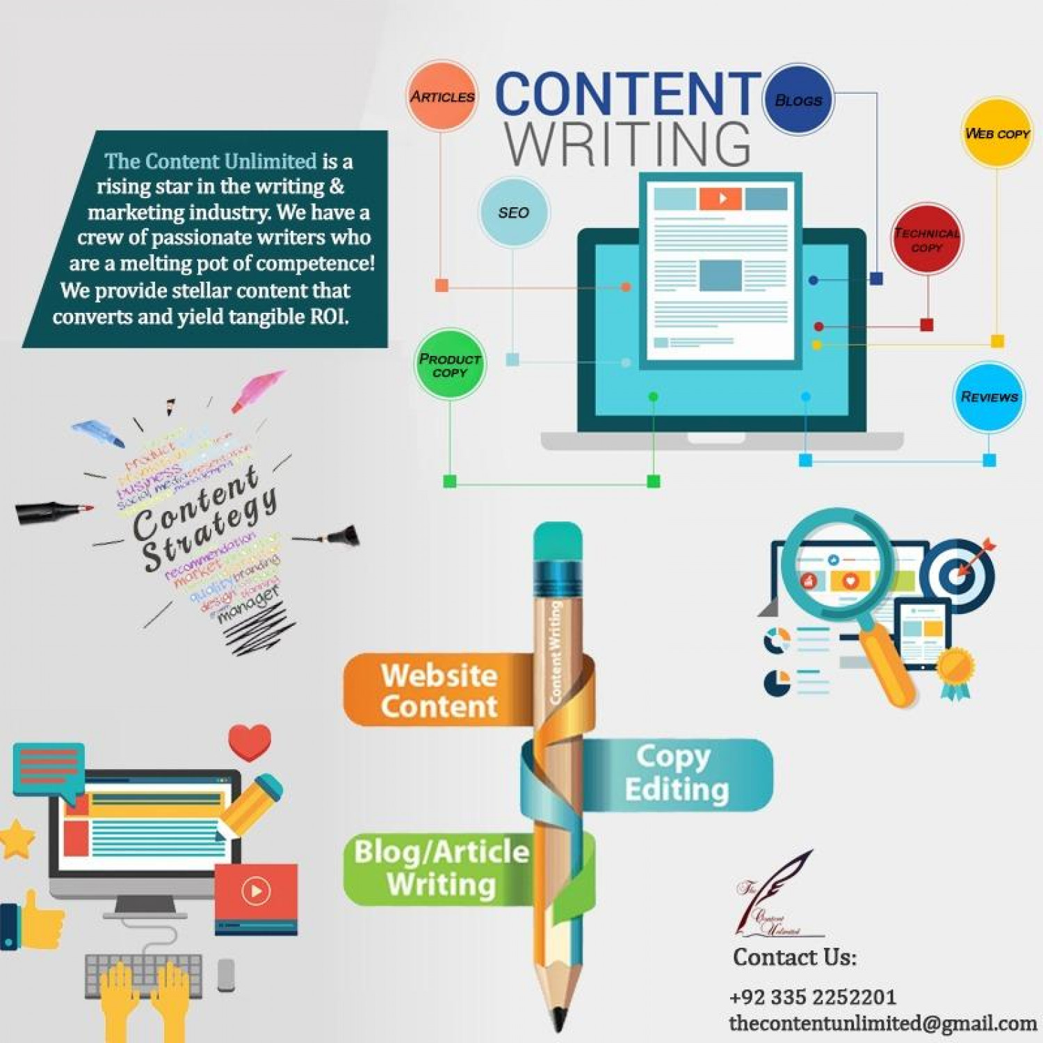 Professional Content Writing Services Infographic