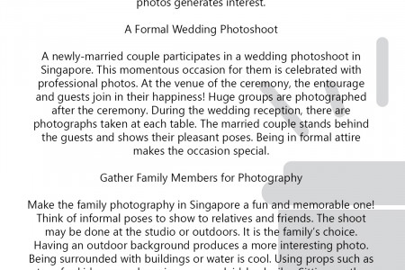 Professional Photography in Singapore For A Wedding and Family Infographic