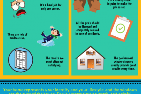 Professional Window Cleaning VS DIY Infographic