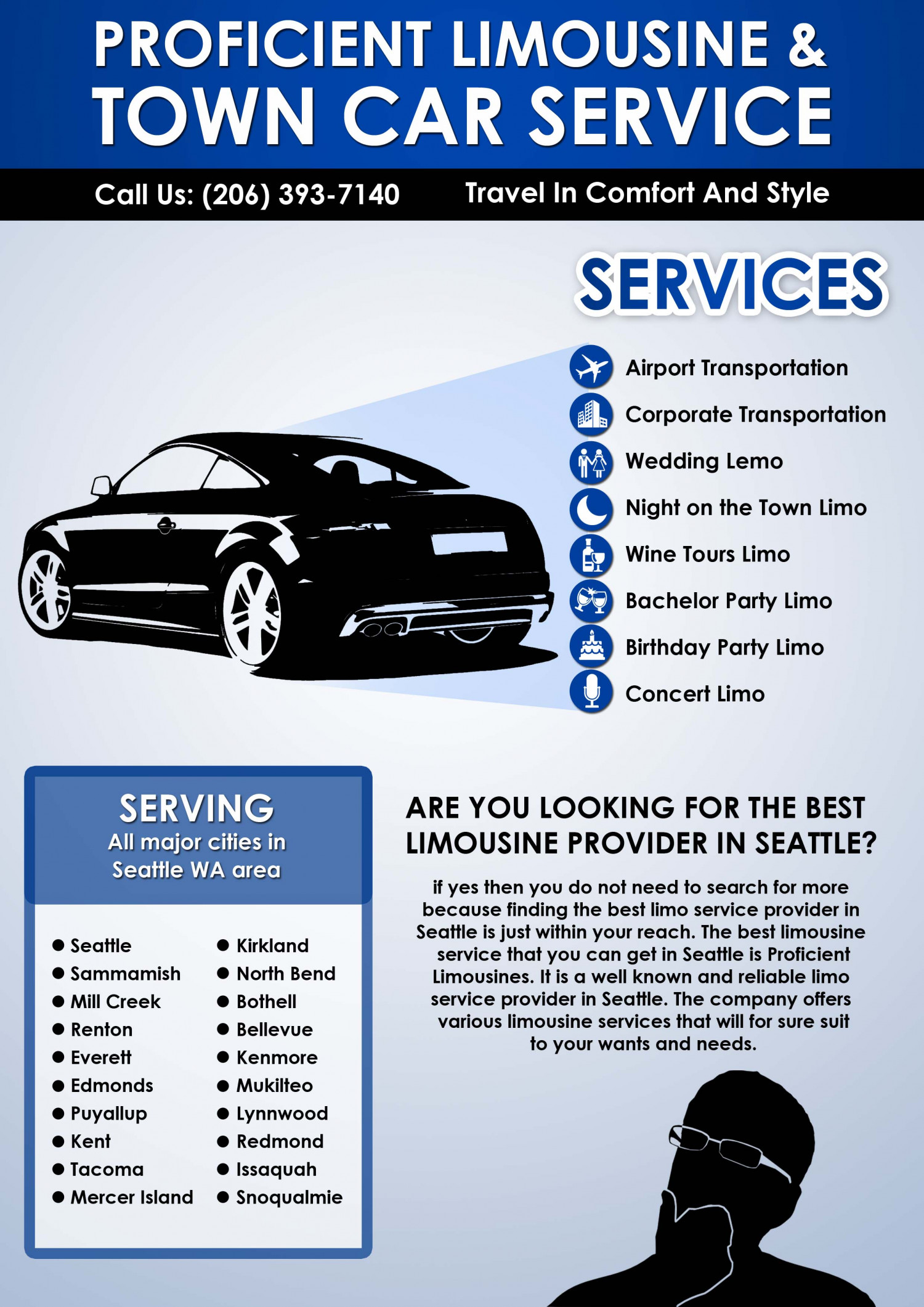 Proficient Limousine Seattle Town Car Service