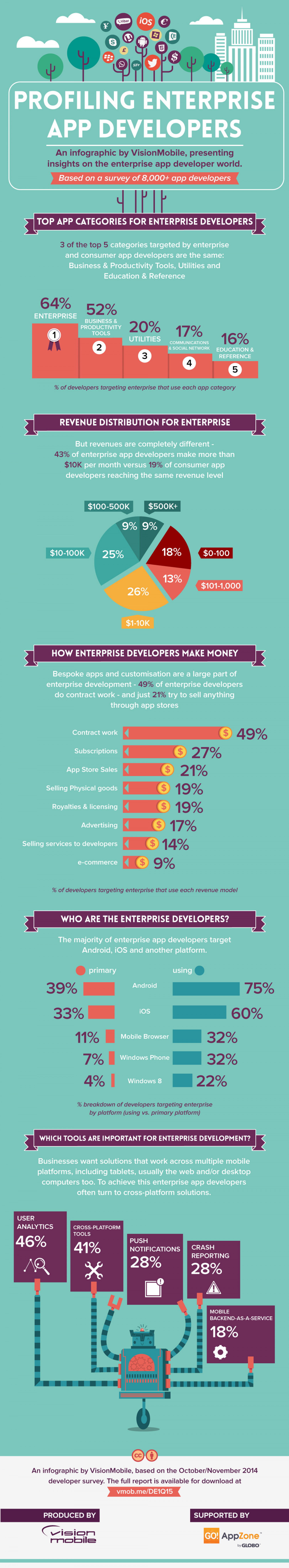 Profiling Enterprise App Developers Infographic