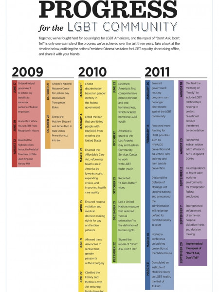 Progress for the LGBT Community Infographic