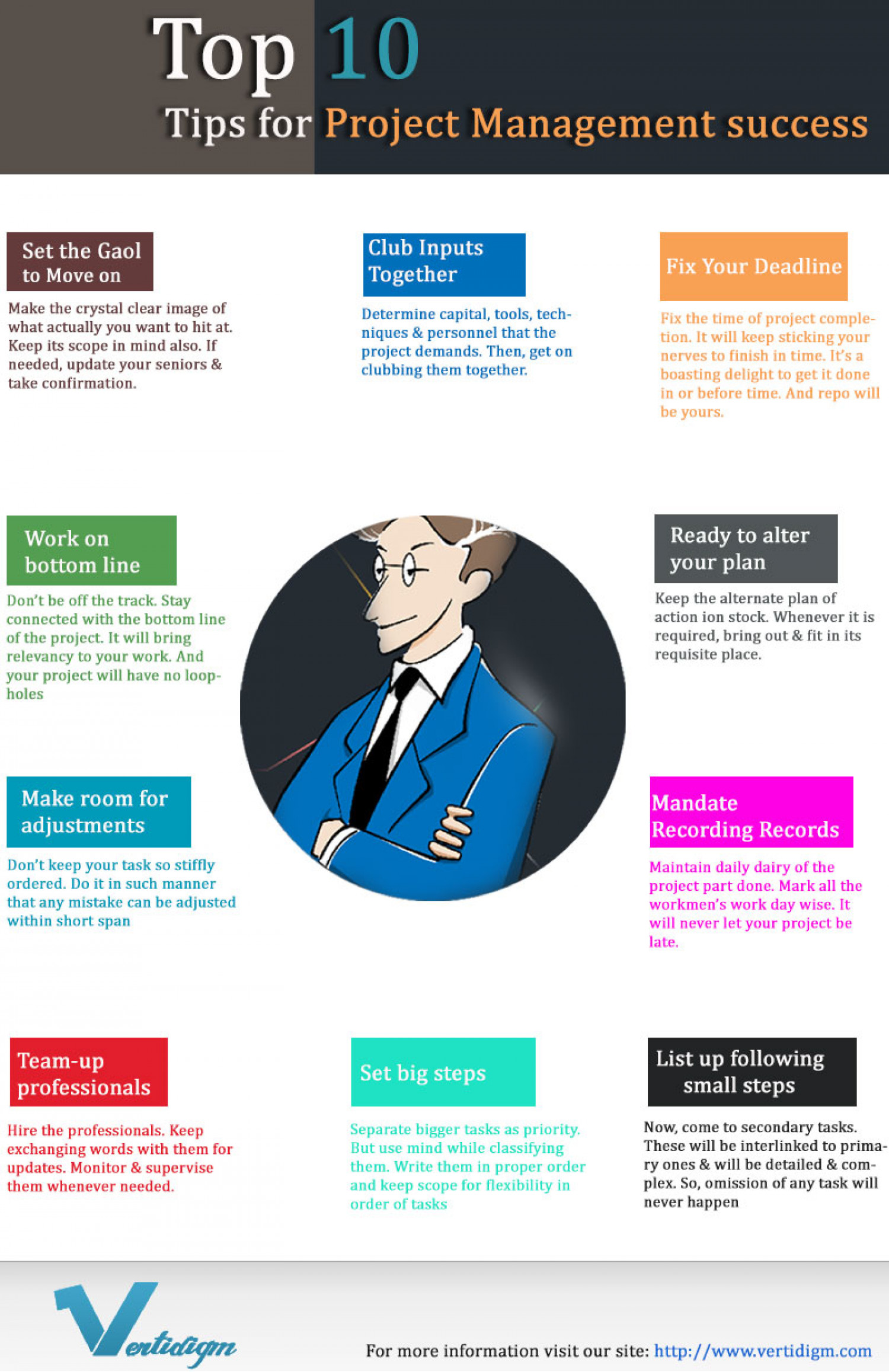 Project Management in a Nutshell  Infographic
