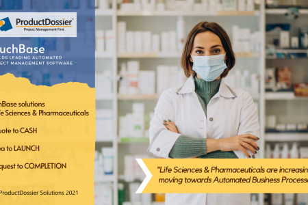 Project Management Solution for Life Sciences and Pharmaceuticals Infographic