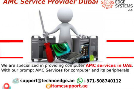 Prominent AMC service Provider Dubai for your computers Infographic