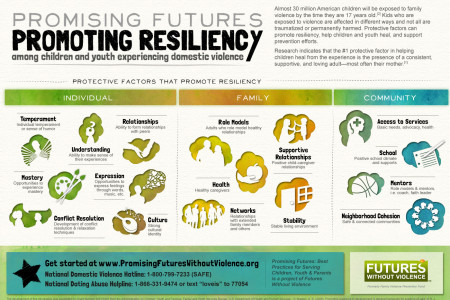 Promising Futures, Promoting Resiliency Among Children and Youth Experiencing Domestic Violence Infographic