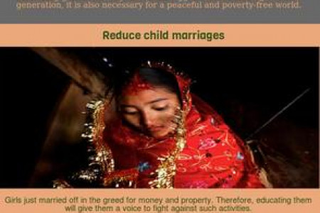 Promote Girls Education Infographic