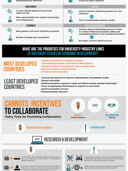 Promoting University-Industry Collaboration in Developing Countries Infographic