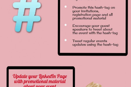 Promoting Your Event Through Social Media Infographic