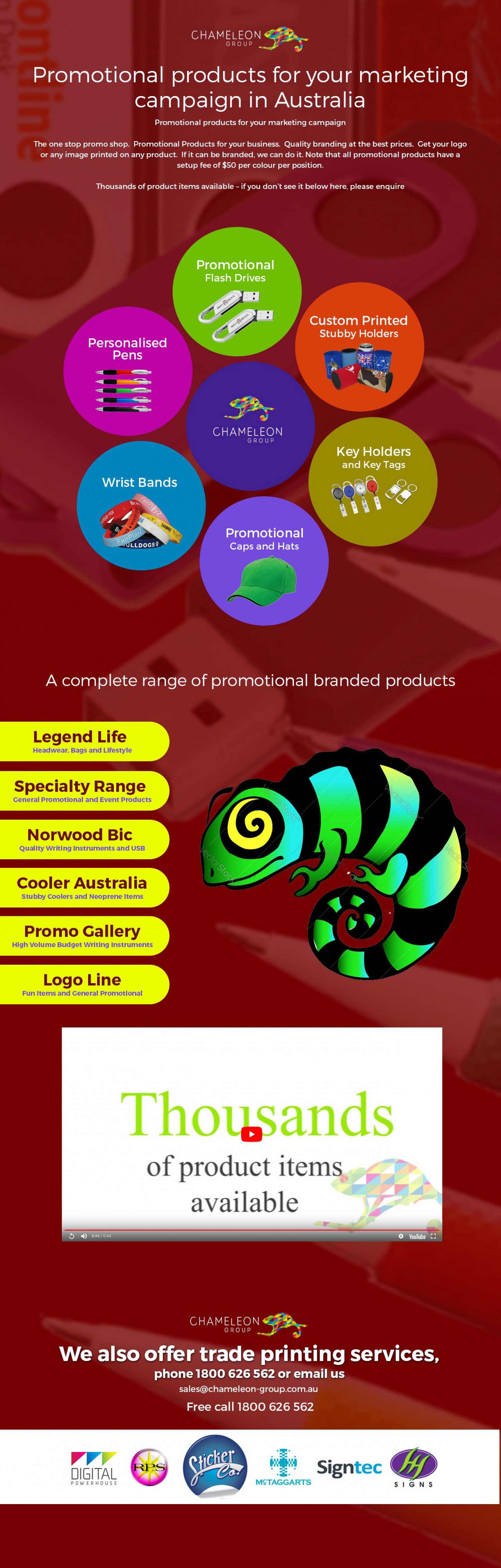 Promotional products for your marketing campaign in Australia Infographic
