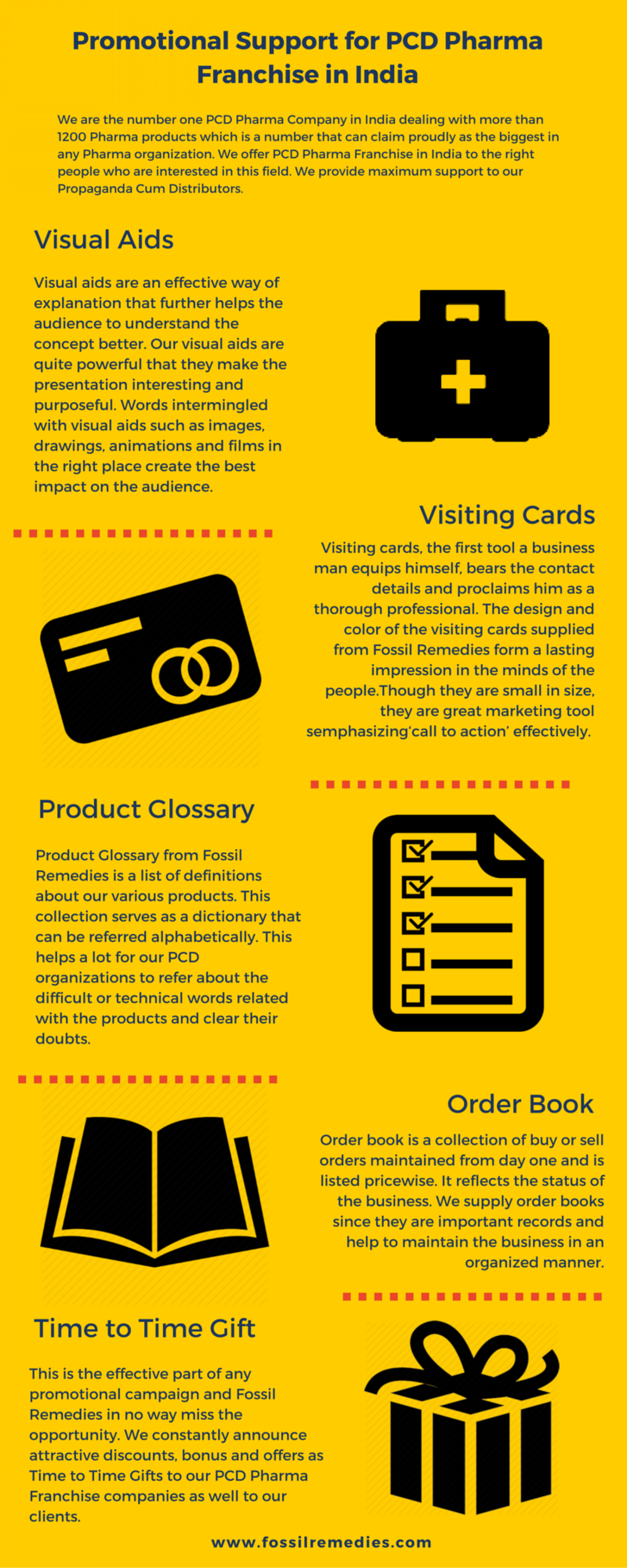 Promotional Support for PCD Pharma Franchise in India Infographic