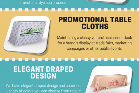 Promotional table covers to promote your business Infographic