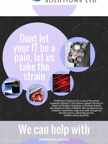 ProNetwork Solutions for all your IT requirements in Northern Ireland Infographic