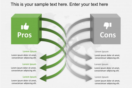 Pros and Cons PowerPoint Template Infographic