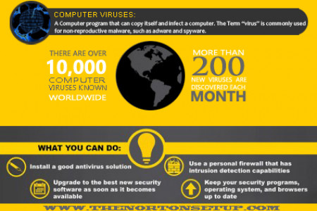 Protect Computer from  Virus Infographic