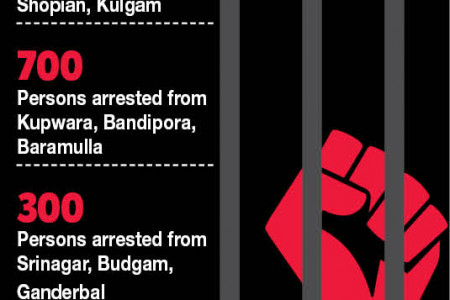 Protesters arrested Infographic