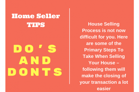 Proven Steps To Take When Selling Your House - Do's Dont's Infographic
