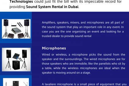 Providing Sound System Rentals in Dubai Infographic