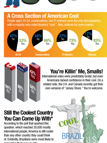 Public Opinion Denies America's Coolness Infographic
