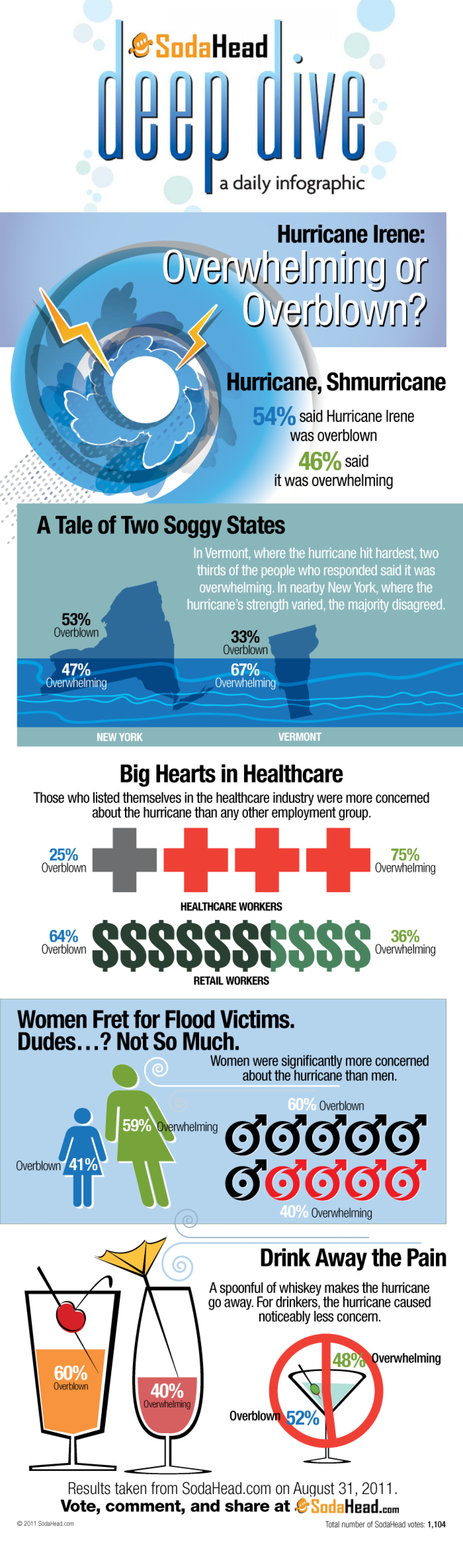Public Opinion Says Hurricane Irene Was Overblown  Infographic