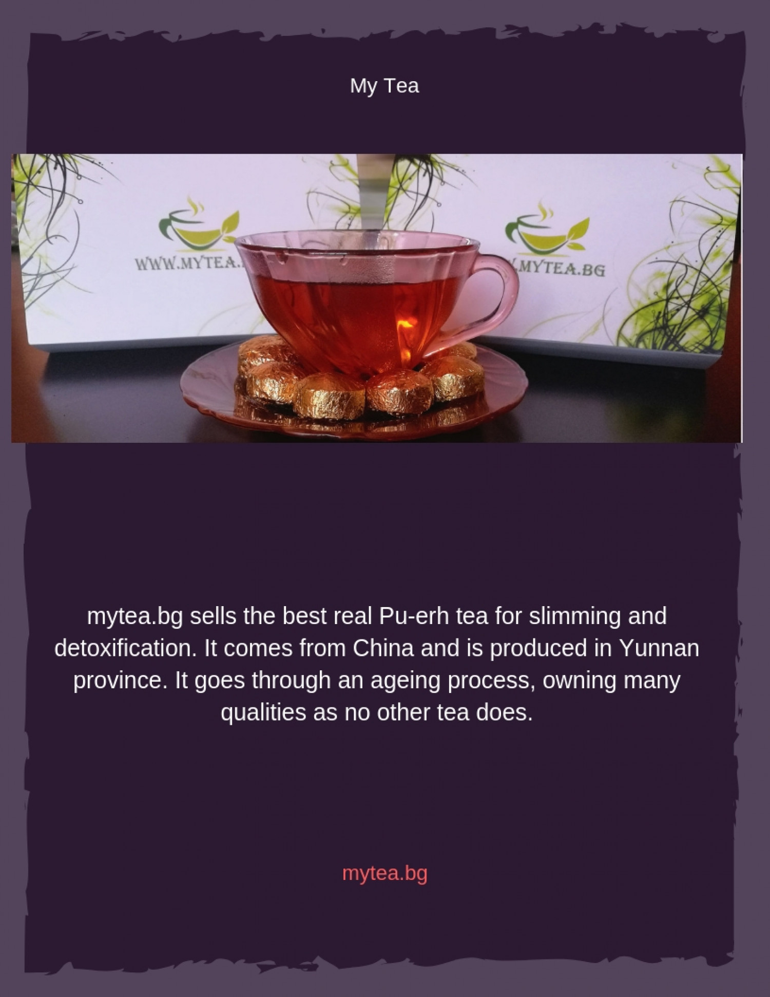 Puerh tea Infographic