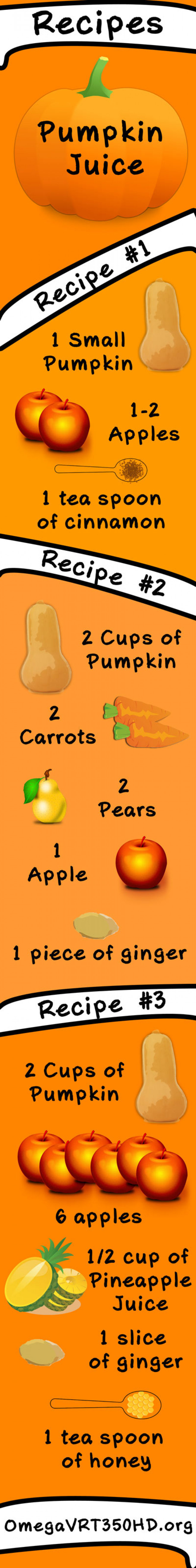 Pumped About Pumpkins: 3 Healthy and Delicious Pumpkin Juice Recipes - Infographic