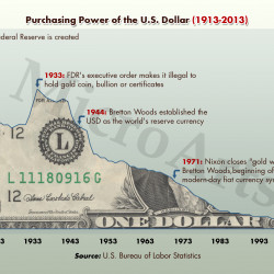 Purchasing Power Of The U S Dollar 1913 To 2013 Visual Ly