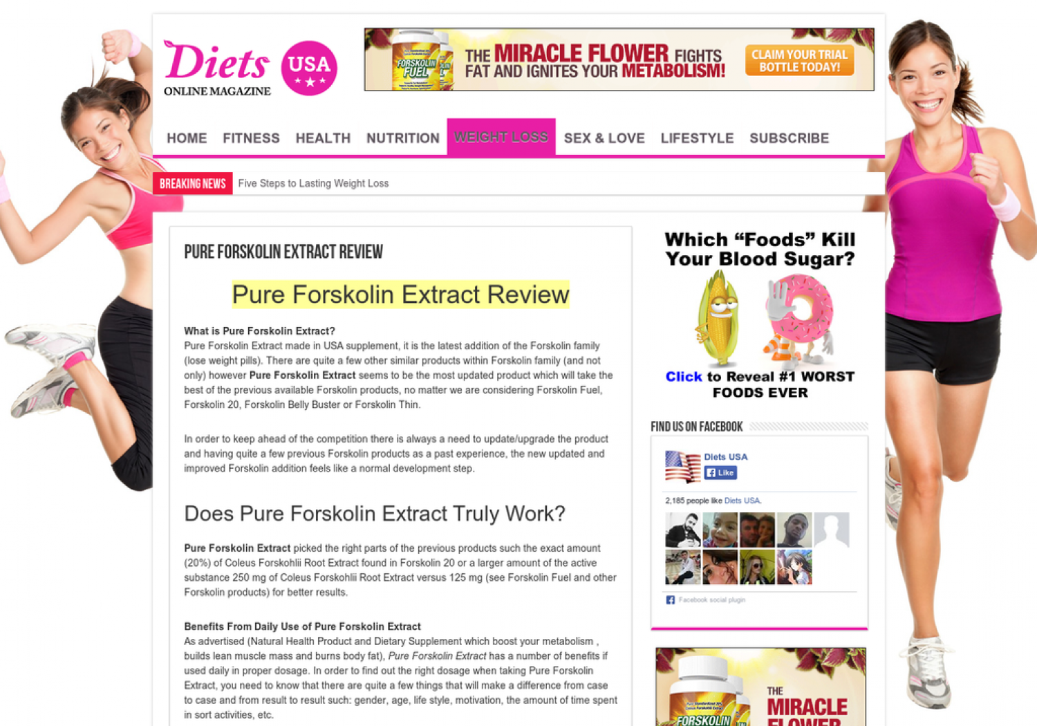 Pure Forskolin Extract Review Infographic