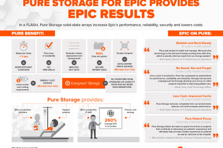 Pure Storage Provides Epic Results Infographic