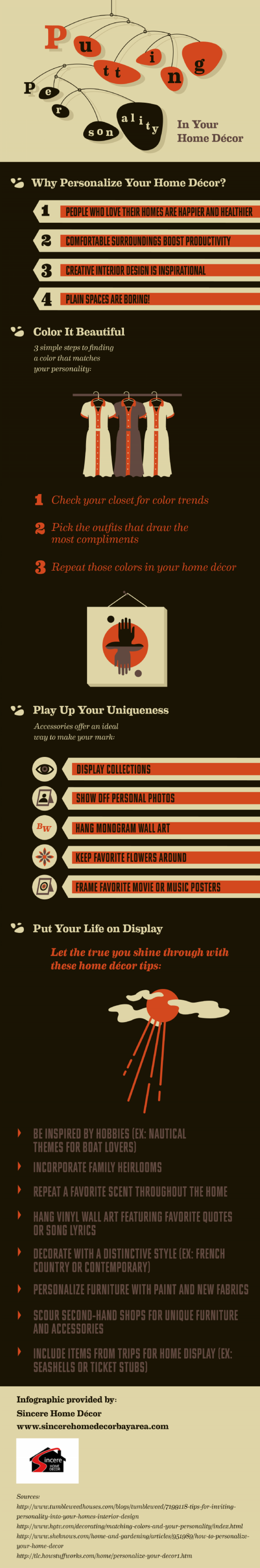 Putting Personality in Your Home Décor Infographic