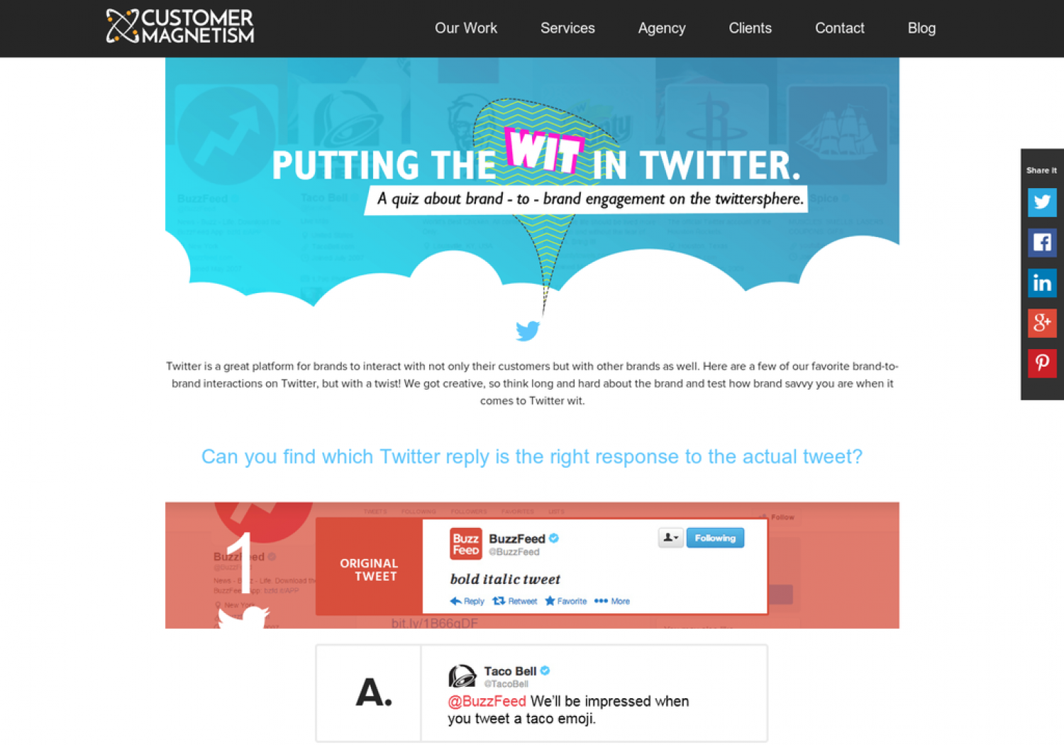 Putting The Wit In Twitter - Quiz Infographic