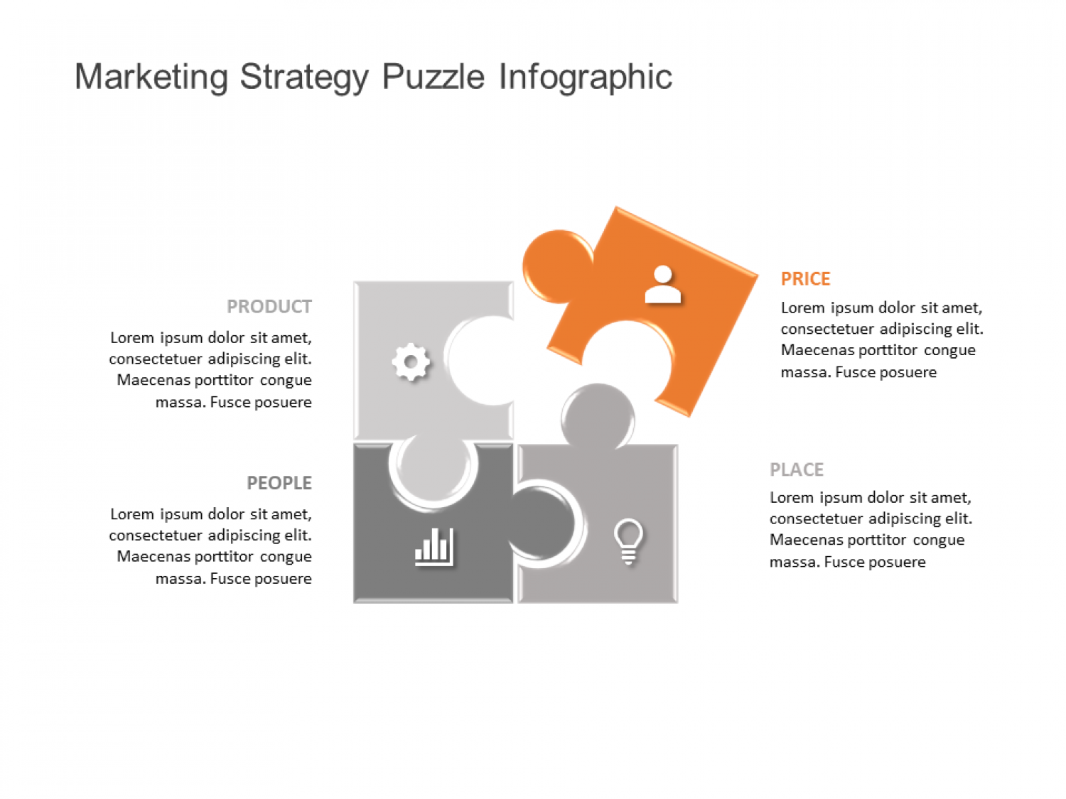 Puzzle PowerPoint Template Infographic