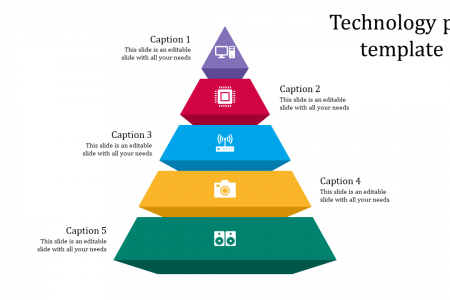 Pyramid PPT Template Infographic