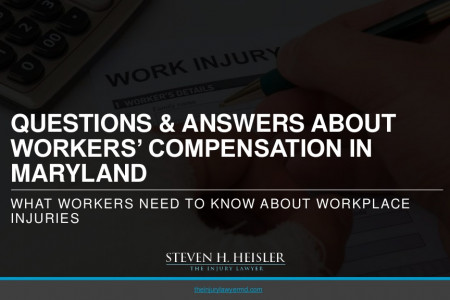 Questions and Answers About Workers' Compensation in Maryland Infographic