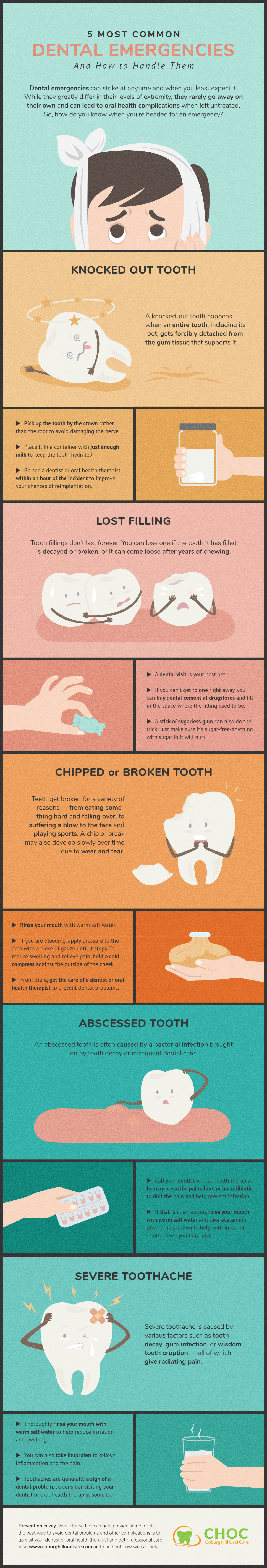 Quick Tips for Handling Common Dental Emergencies Infographic