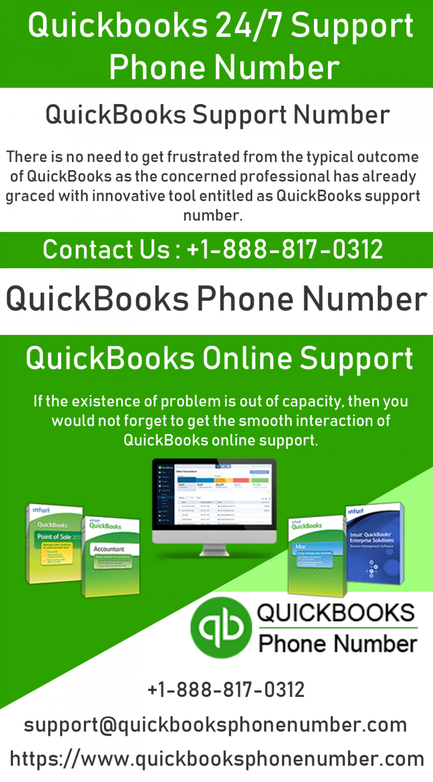 Quickbooks 24x7 support phone number Infographic