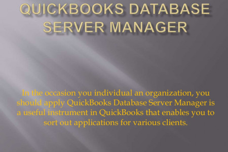 QuickBooks Database Server Manager Infographic