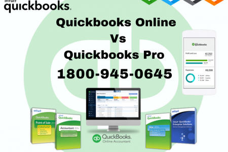 QuickBooks Online Vs QuickBooks Pro - To Know more Just Call - 1800-945-0645 Infographic