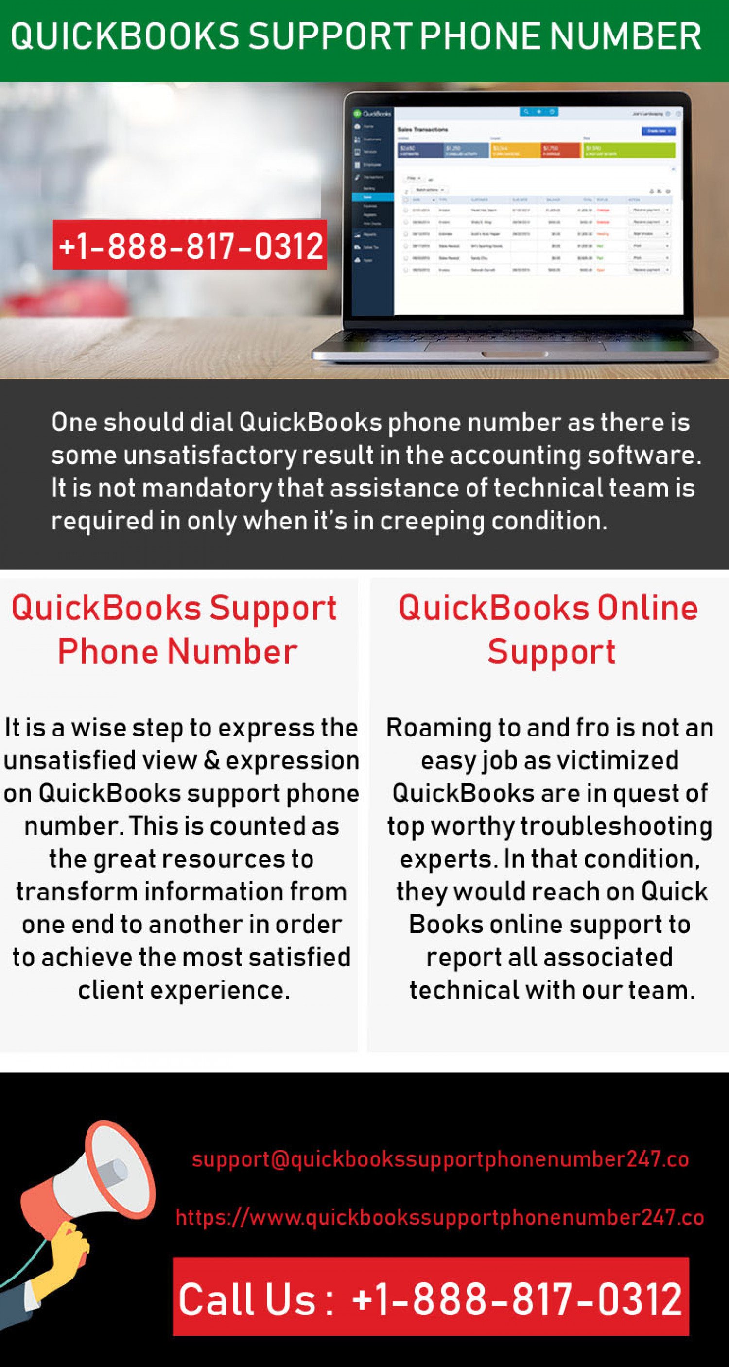 QuickBooks Support Phone Number Infographic