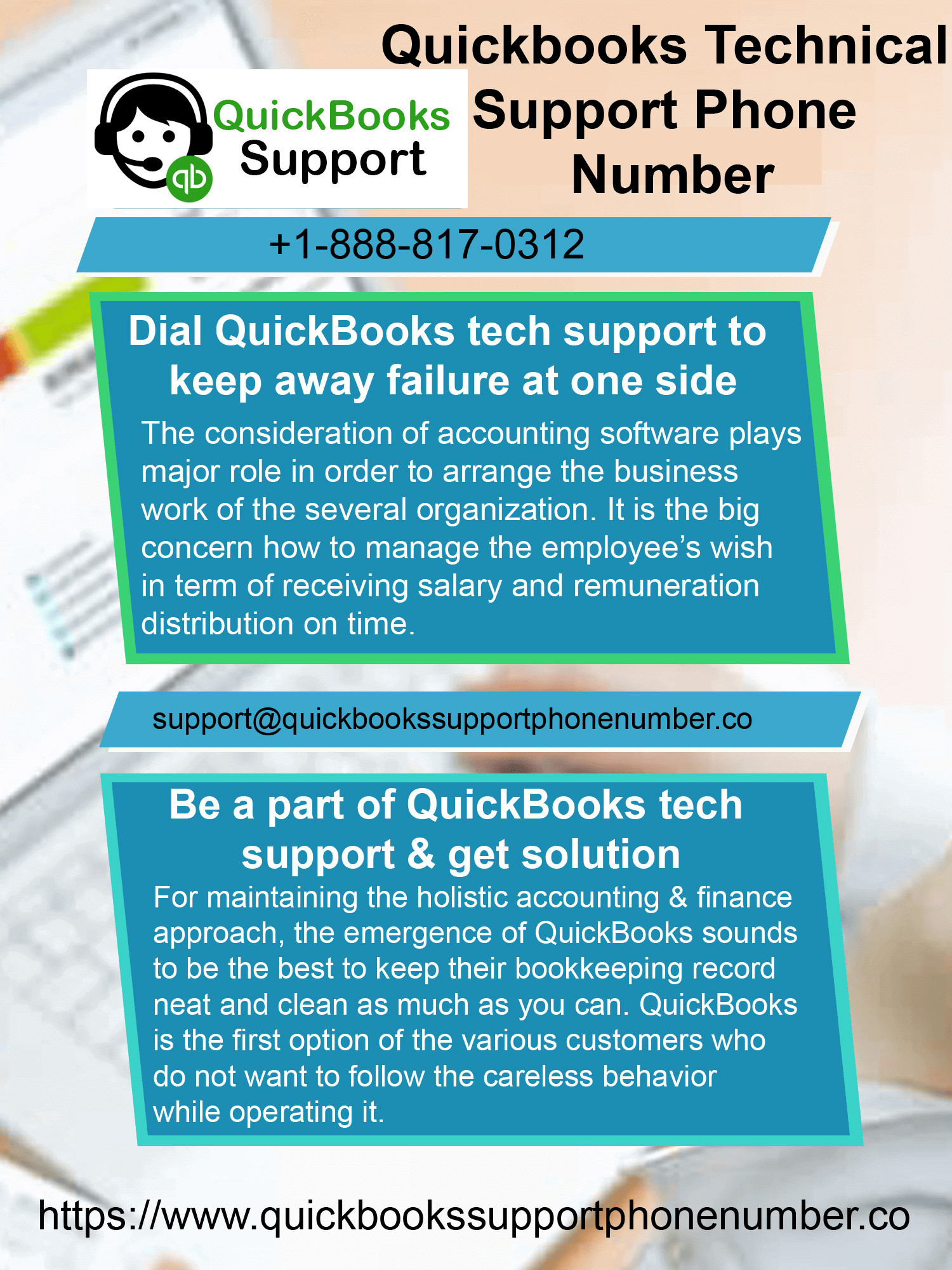 Quickbooks tech support phone number Infographic